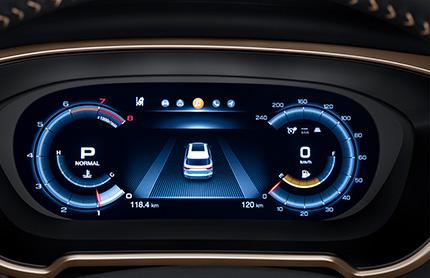 12.3-inch full-LCD dashboard